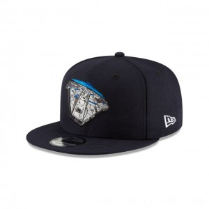 NEW ERA CAP ENTERTAINMENT COLLECTION HAN SOLO STAR WARS FALCON NAVY 9FIFTY SNAPBACK Sales