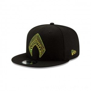 NEW ERA CAP AQUAMAN COLLECTION AQUAMAN BLACK 9FIFTY SNAPBACK Sales