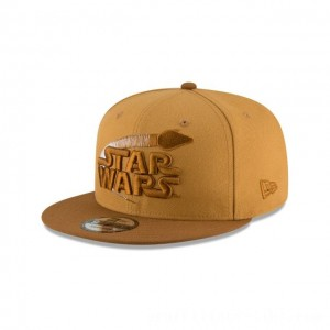 NEW ERA CAP ENTERTAINMENT COLLECTION HAN SOLO STAR WARS PANAMA TAN 9FIFTY SNAPBACK Sales