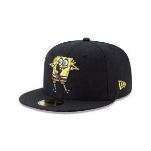 NEW ERA CAP SPONGEBOB COLLECTION SPONGEBOB SQUAREPANTS NAVY 59FIFTY FITTED Sales
