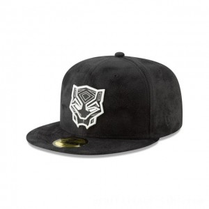 NEW ERA CAP ENTERTAINMENT COLLECTION BLACK PANTHER SUEDE 59FIFTY FITTED Sales