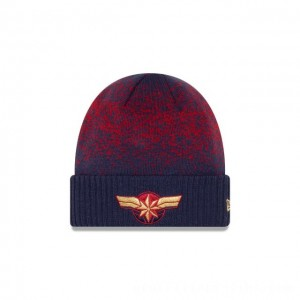 Black Friday 2020 NEW ERA CAP ENTERTAINMENT COLLECTION CAPTAIN MARVEL WOMENS SPECKLED KNIT Sales