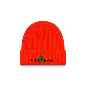 NEW ERA CAP AQUAMAN COLLECTION AQUAMAN HUNTER ORANGE CUFF KNIT Sales