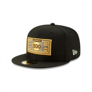 NEW ERA CAP MONOPOLY COLLECTION MONOPOLY 500 DOLLAR BILL 59FIFTY FITTED Sales