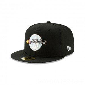 NEW ERA CAP HOLIDAY COLLECTION CHRISTMAS VACATION FLYING SANTA BLACK 59FIFTY FITTED Sales