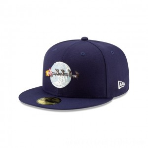 NEW ERA CAP HOLIDAY COLLECTION CHRISTMAS VACATION FLYING SANTA NAVY 59FIFTY FITTED Sales