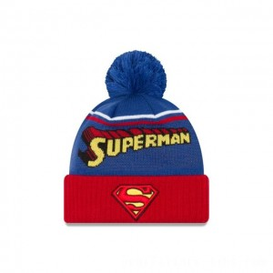 NEW ERA CAP ENTERTAINMENT COLLECTION SUPERMAN JUMBO CHEER KNIT Sales