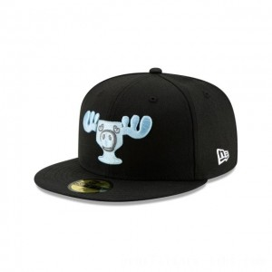 NEW ERA CAP HOLIDAY COLLECTION CHRISTMAS VACATION MOOSE MUG BLACK 59FIFTY FITTED Sales