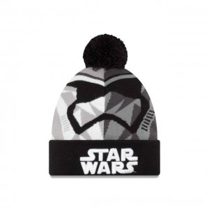 NEW ERA CAP ENTERTAINMENT COLLECTION KIDS STORM TROOPER STAR WARS THE LAST JEDI KNIT CAP Sales