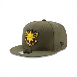 NEW ERA CAP ENTERTAINMENT COLLECTION CAPTAIN MARVEL BADGE 9FIFTY SNAPBACK Sales
