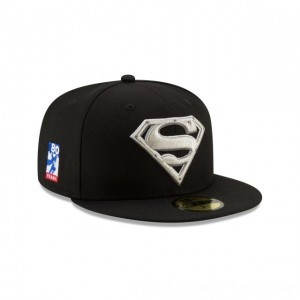 NEW ERA CAP SUPERMAN 80TH ANNIVERSARY SUPERMAN STEEL 59FIFTY FITTED Sales