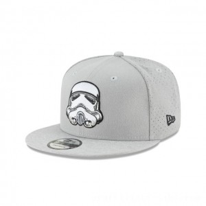 NEW ERA CAP ENTERTAINMENT COLLECTION STAR WARS STORM TROOPER PERFORATED 9FIFTY SNAPBACK Sales