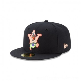 NEW ERA CAP SPONGEBOB COLLECTION PATRICK STAR SPONGEBOB NAVY 59FIFTY FITTED Sales