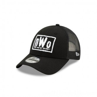 NEW ERA CAP WORLD WRESTLING ENTERTAINMENT NEW WORLD ORDER TRUCKER 9FORTY ADJUSTABLE Sales