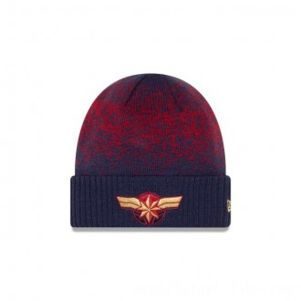 NEW ERA CAP ENTERTAINMENT COLLECTION CAPTAIN MARVEL WOMENS SPECKLED KNIT Sales