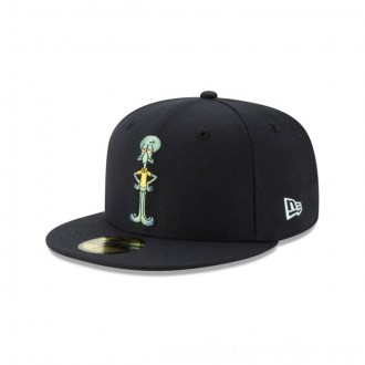 NEW ERA CAP SPONGEBOB COLLECTION SQUIDWARD TENTACLES SPONGEBOB NAVY 59FIFTY FITTED Sales