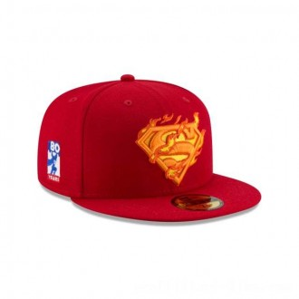 NEW ERA CAP SUPERMAN 80TH ANNIVERSARY SUPERMAN HEAT VISION 59FIFTY FITTED Sales