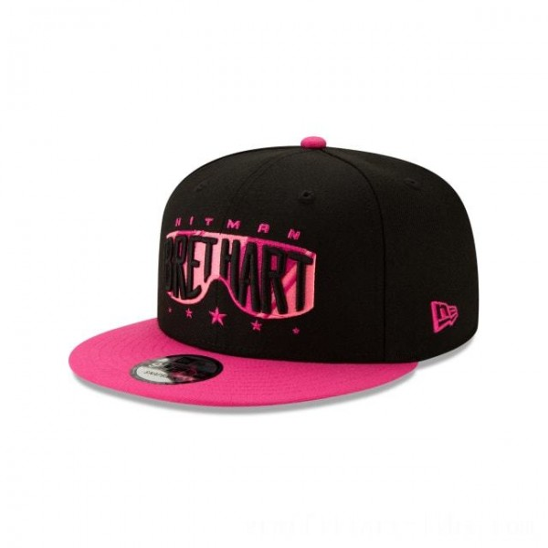 NEW ERA CAP WORLD WRESTLING ENTERTAINMENT BRET HART PINK WWE 9FIFTY SNAPBACK Sales
