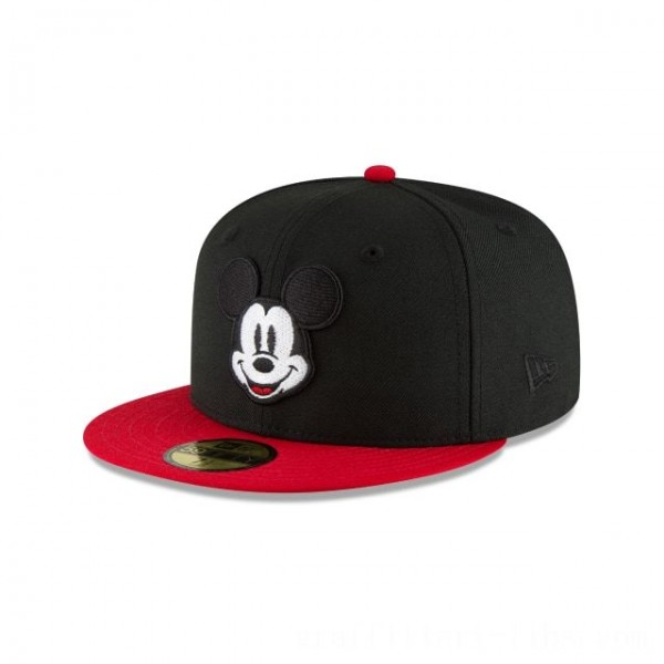 NEW ERA CAP MICKEY MOUSE COLLECTION MICKEY MOUSE BLACK AND SCARLET 59FIFTY FITTED Sales