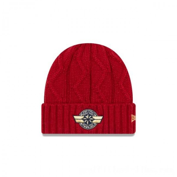 NEW ERA CAP ENTERTAINMENT COLLECTION CAPTAIN MARVEL WOMENS CABLE CUFF KNIT Sales