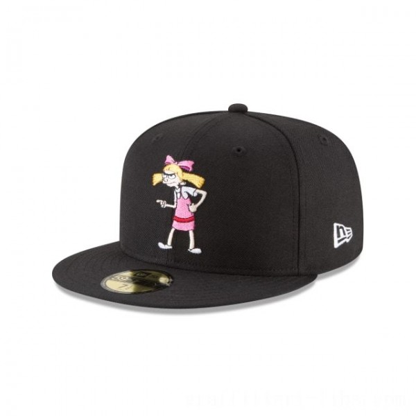 NEW ERA CAP ENTERTAINMENT COLLECTION HELGA HEY ARNOLD NICKELODEON 59FIFTY FITTED Sales
