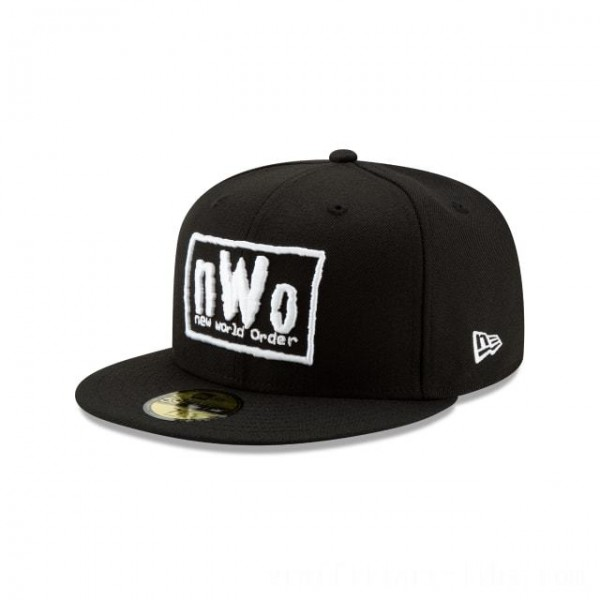 NEW ERA CAP WORLD WRESTLING ENTERTAINMENT NEW WORLD ORDER WWE 59FIFTY FITTED Sales