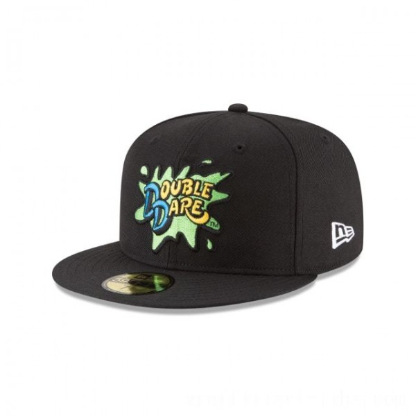 NEW ERA CAP ENTERTAINMENT COLLECTION DOUBLE DARE NICKELODEON 59FIFTY FITTED Sales