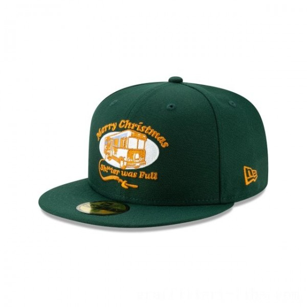 NEW ERA CAP HOLIDAY COLLECTION CHRISTMAS VACATION TRAILER GREEN 59FIFTY FITTED Sales