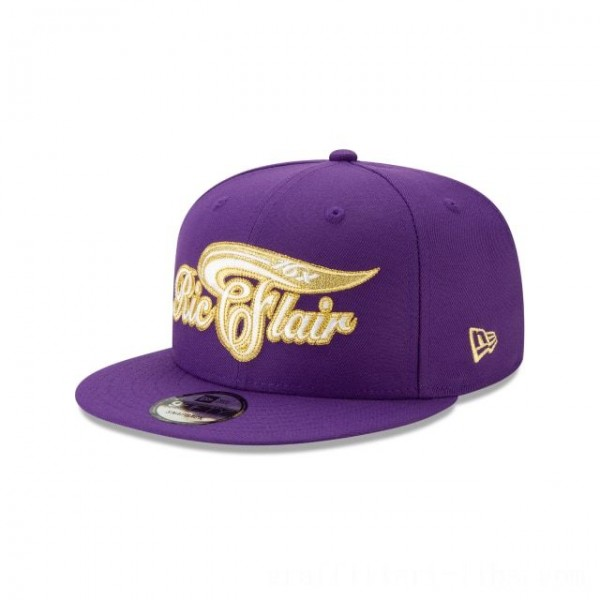 NEW ERA CAP WORLD WRESTLING ENTERTAINMENT RIC FLAIR PURPLE 9FIFTY SNAPBACK Sales