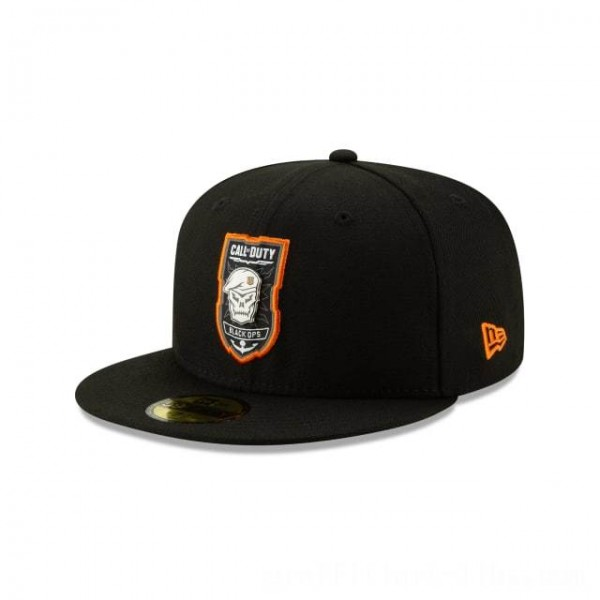 NEW ERA CAP ENTERTAINMENT COLLECTION CALL OF DUTY: BLACK OPS 4 METAL AND THREAD 59FIFTY FITTED Sales