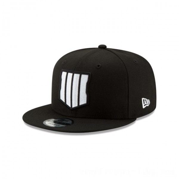 NEW ERA CAP ENTERTAINMENT COLLECTION CALL OF DUTY: BLACK OPS 4 BLACK AND WHITE 9FIFTY SNAPBACK Sales