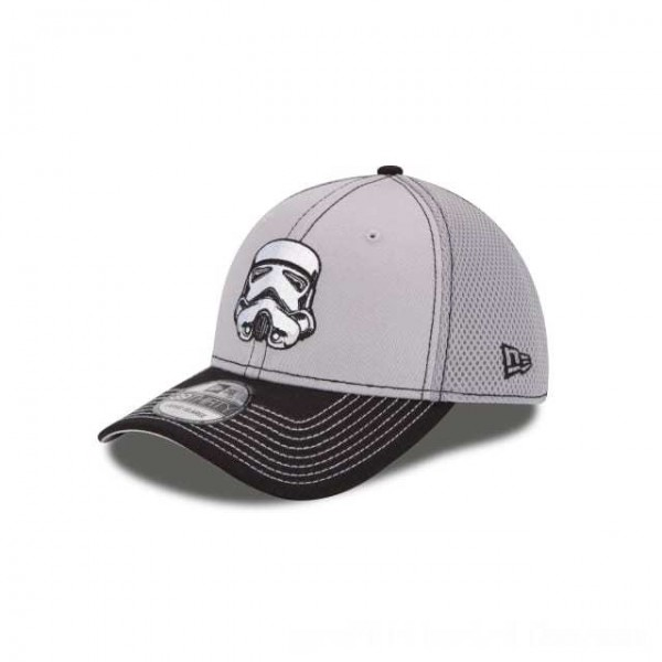 NEW ERA CAP ENTERTAINMENT COLLECTION STAR WARS STORM TROOPER TWO TONE NEO 39THIRTY STRETCH FIT Sales