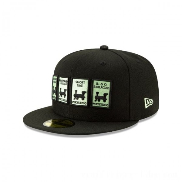 NEW ERA CAP MONOPOLY COLLECTION MONOPOLY RAILROAD 59FIFTY FITTED Sales